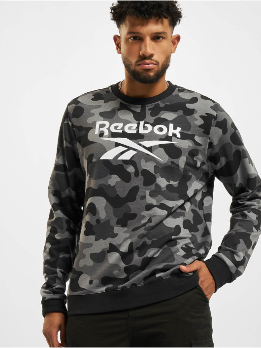 Reebok Sweat & Pull Camo AOP Crew noir