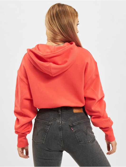 Reebok Sweat capuche Cl Pf Cropped Ft Ho rouge