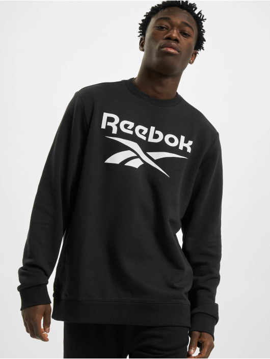 Reebok Swetry Identity French Terry Big Logo czarny