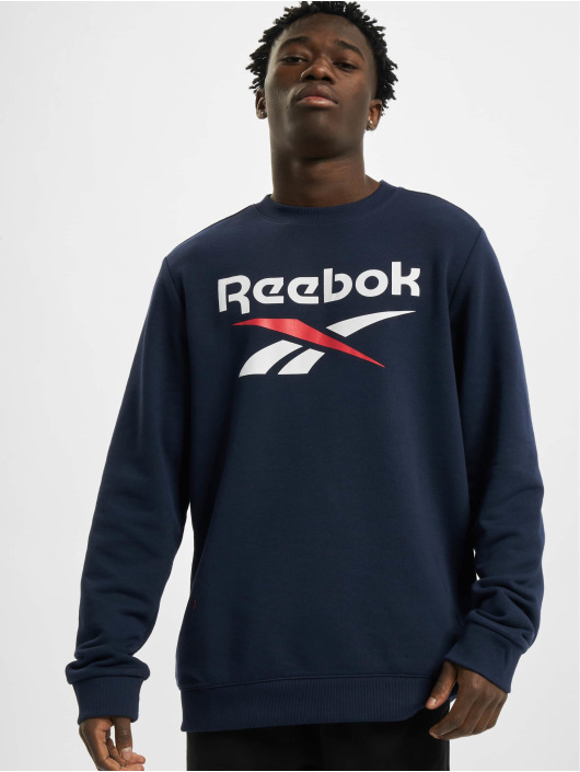 Reebok Swetry Identity French Terry Big Logo niebieski