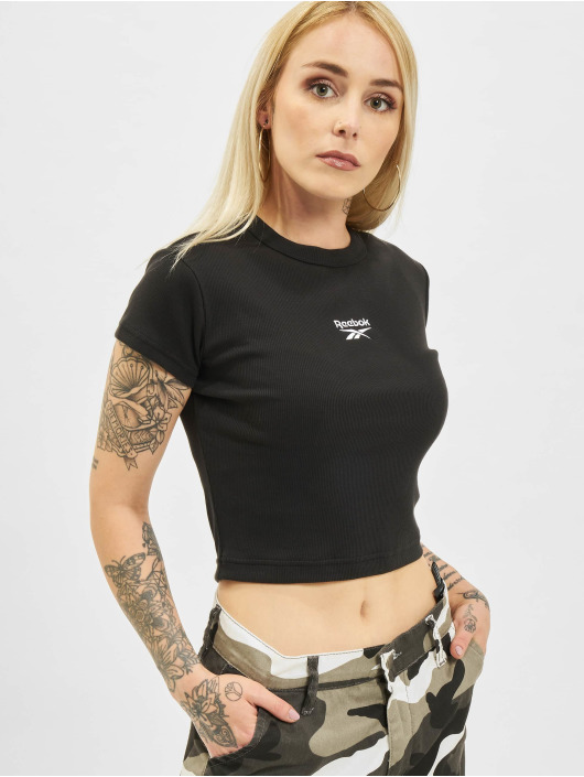 Reebok T-Shirt Cl Wde Ribbed black