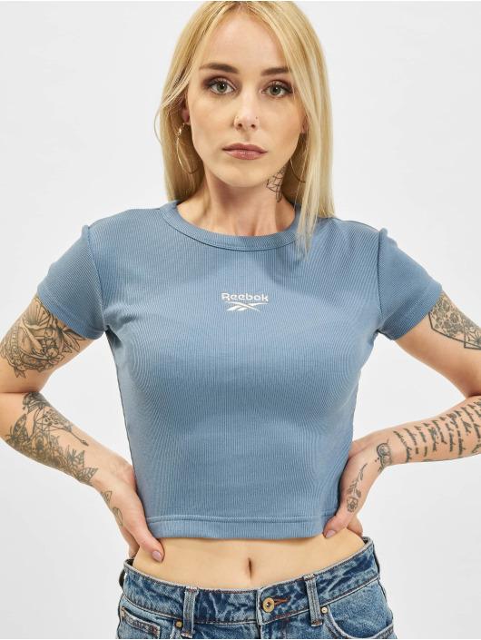Reebok T-Shirt Cl Wde Ribbed blau