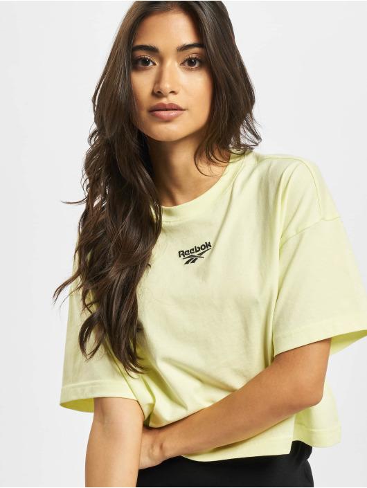 Reebok T-Shirt QQR Cropped gelb