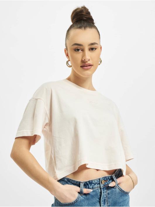 Reebok T-Shirt Cropped Small Logo magenta
