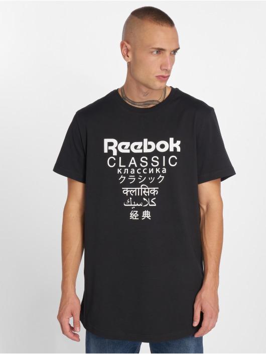 Gp shirt Long Unisex Homme T 464292 Reebok Noir PkXwN0O8n