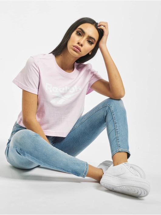 Reebok T-Shirt Classic F Vector Crop pink