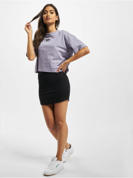 Reebok T-Shirt QQR Cropped purple