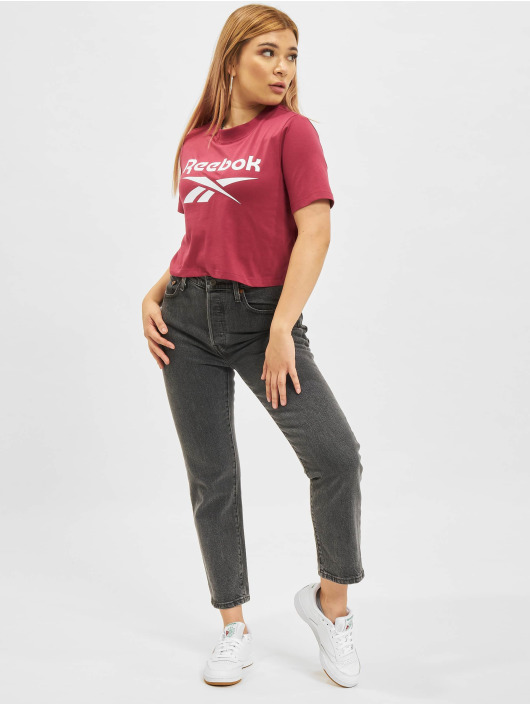 Reebok t-shirt Ri Crop rood