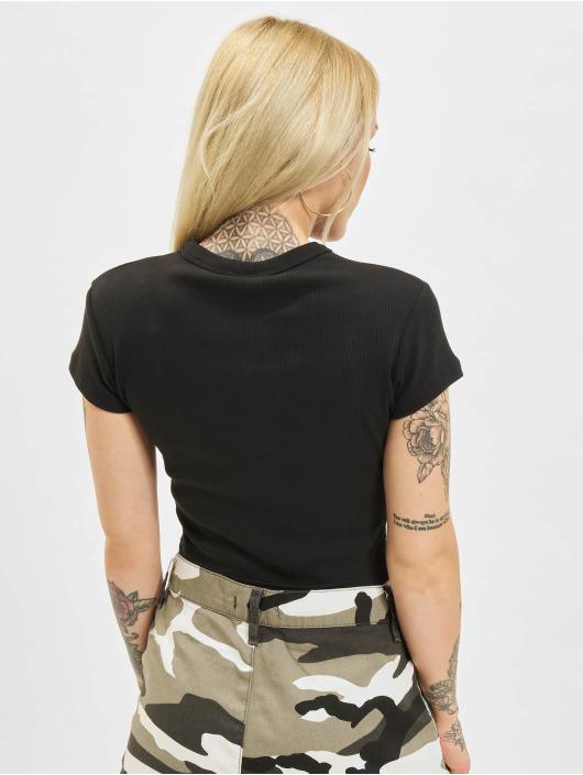 Reebok T-Shirt Cl Wde Ribbed schwarz
