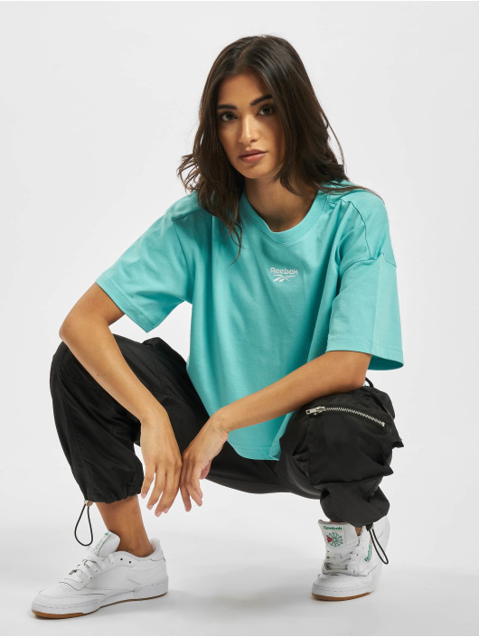 Reebok T-Shirt QQR Cropped turquoise
