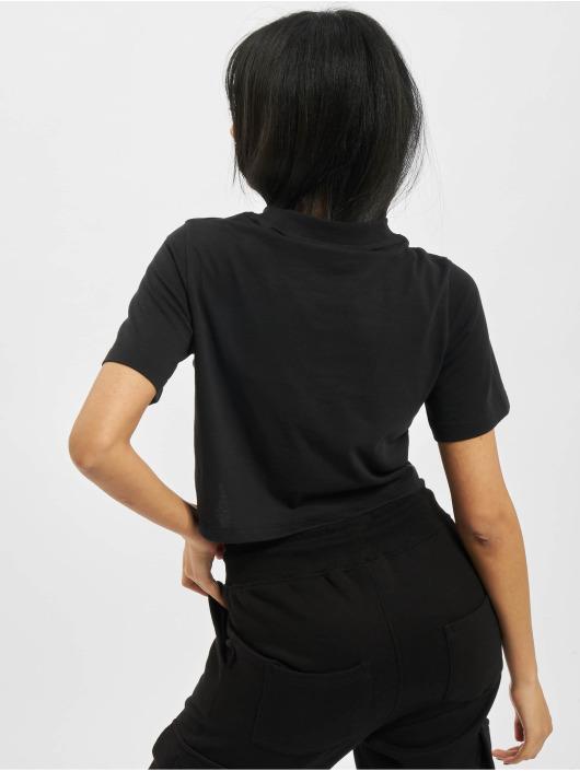 Reebok t-shirt Identity Crop zwart