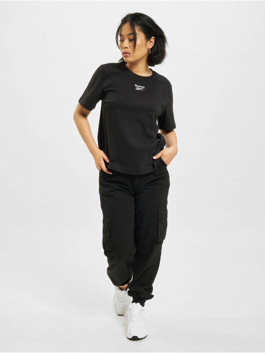 Reebok t-shirt CL F Small Logo zwart