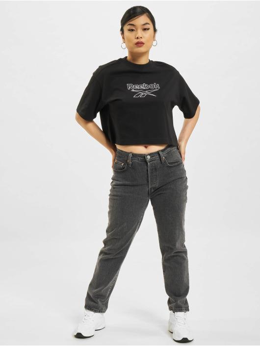 Reebok t-shirt Cl Pf Big Logo zwart