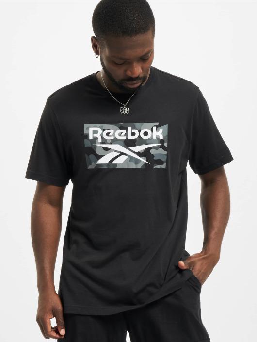 Reebok t-shirt Camo zwart