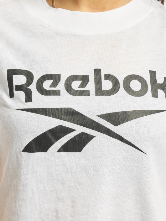 Reebok T-Shirty Identity Crop bialy