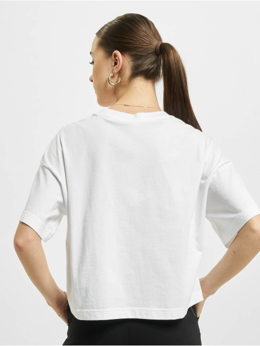 Reebok T-Shirty Reebok Cropped Small Logo T-Shirt bialy