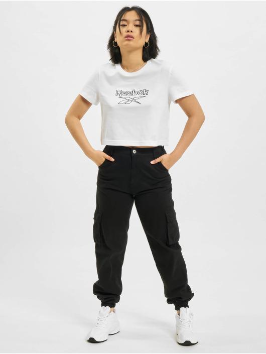Reebok T-Shirty CL F Big Logo bialy