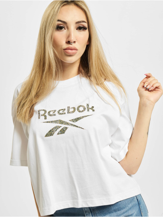 Reebok T-Shirty CL AP Graphic bialy