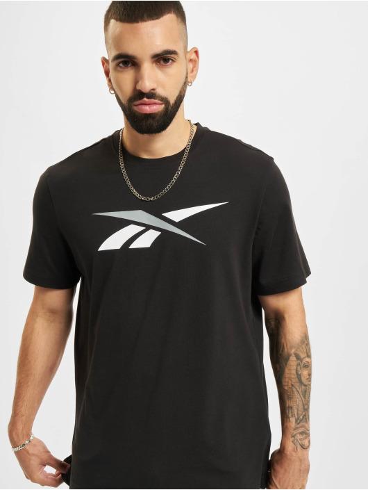 Reebok T-Shirty TE Vector Logo czarny