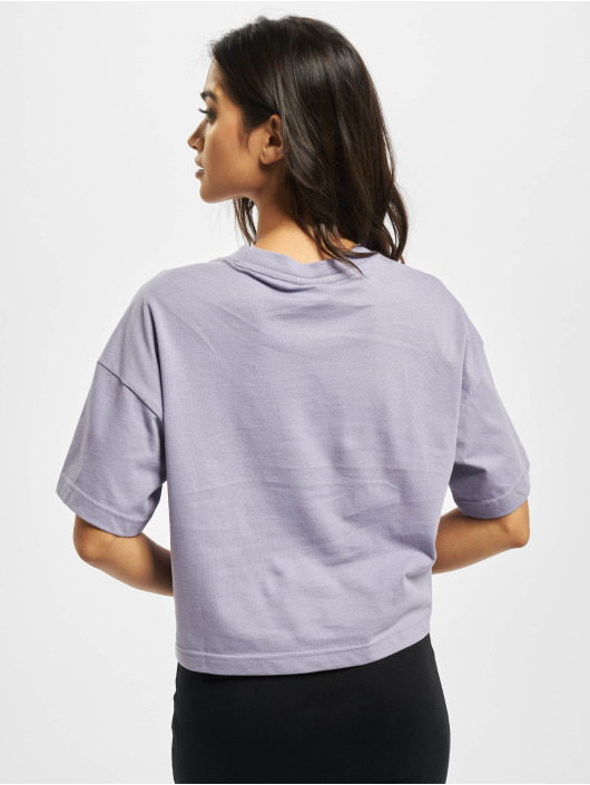 Reebok T-Shirty QQR Cropped fioletowy