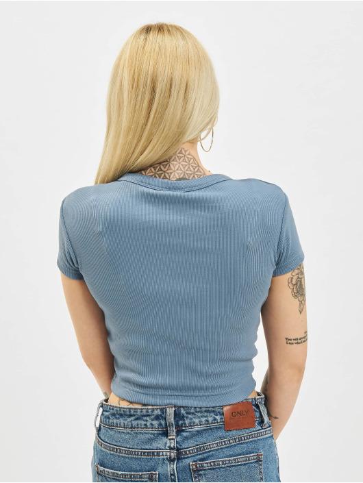 Reebok T-Shirty Cl Wde Ribbed niebieski