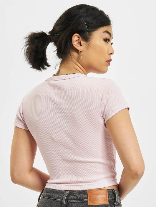 Reebok T-skjorter Cl Wde Ribbed rosa