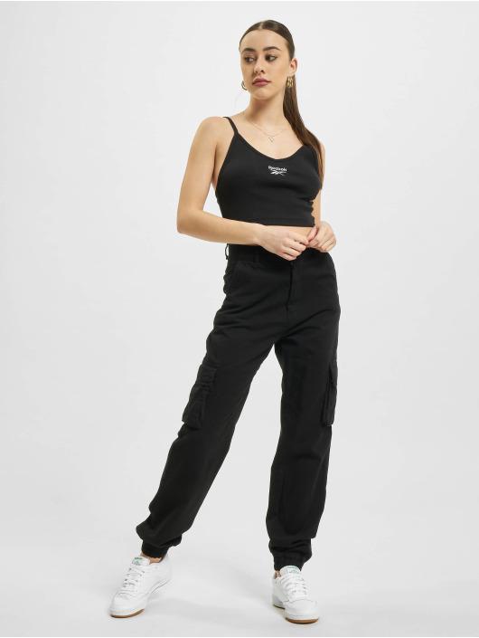 Reebok Top Wardrobe Essentials Strappy Rib schwarz