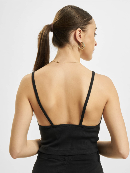 Reebok Tops Wardrobe Essentials Strappy Rib czarny