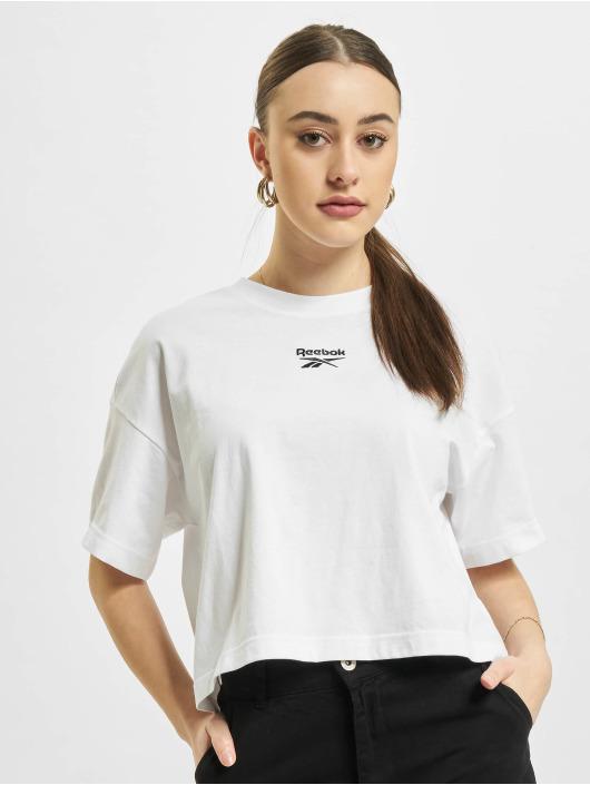 Reebok Tričká Reebok Cropped Small Logo T-Shirt biela