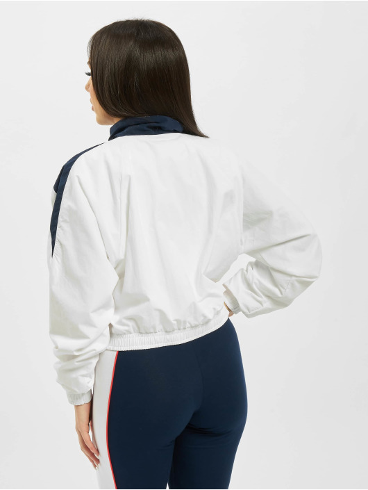 Reebok Classic V Cropped Track Top Pixel PinkWhiteWhite