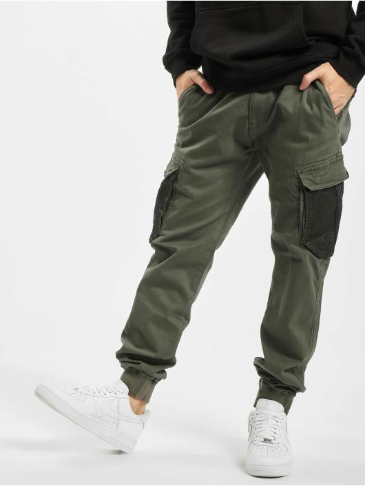 Reell Jeans Cargo Mesh Reflex Rib olivová