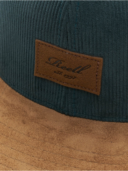Reell Jeans Casquette Snapback & Strapback Suede vert