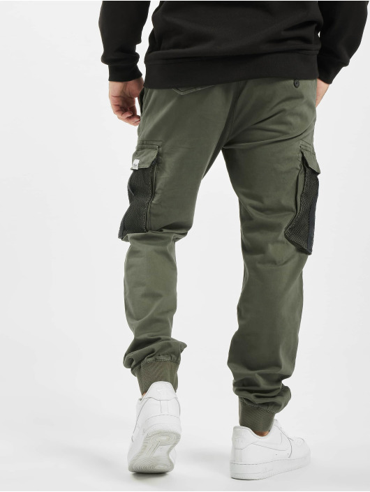 Reell Jeans Pantalon cargo Mesh Reflex Rib olive