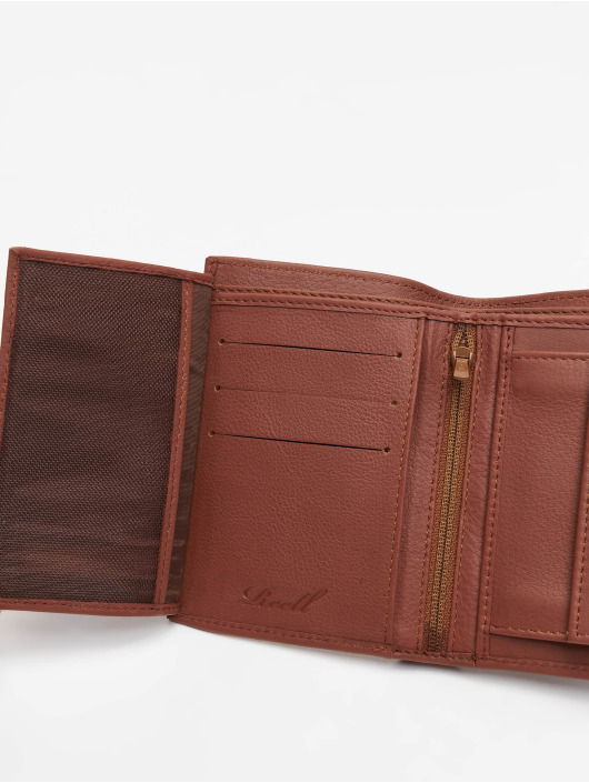 Reell Jeans portemonnee Trifold Leather bruin