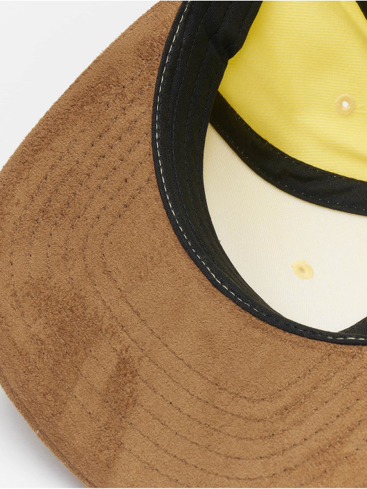 Reell Jeans Snapback Cap Suede 6 Panel giallo