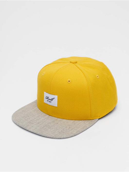 Reell Jeans Snapback Cap Pitchout 6 Panel giallo