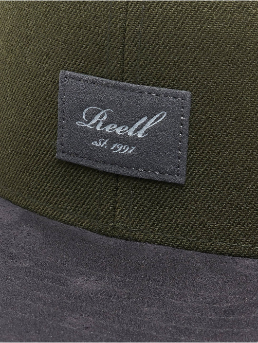 Reell Jeans Snapback Cap Suede 6 grün