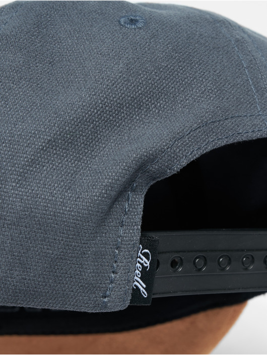 Reell Jeans Snapback Caps Suede harmaa
