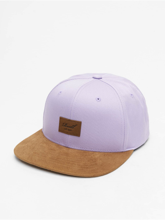 Reell Jeans Snapback Caps Suede lilla