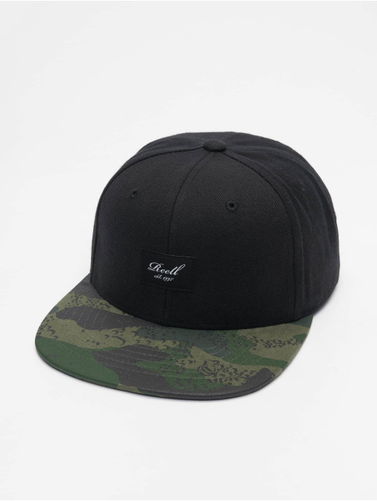 Reell Jeans Snapback Caps Pitchout musta