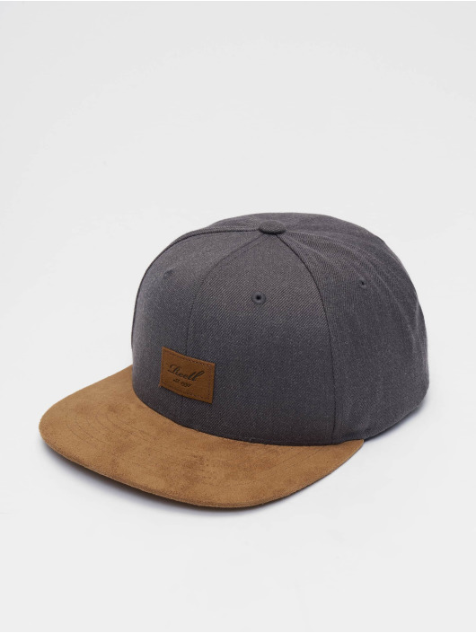 Reell Jeans Snapback Caps Suede 6 Panel szary
