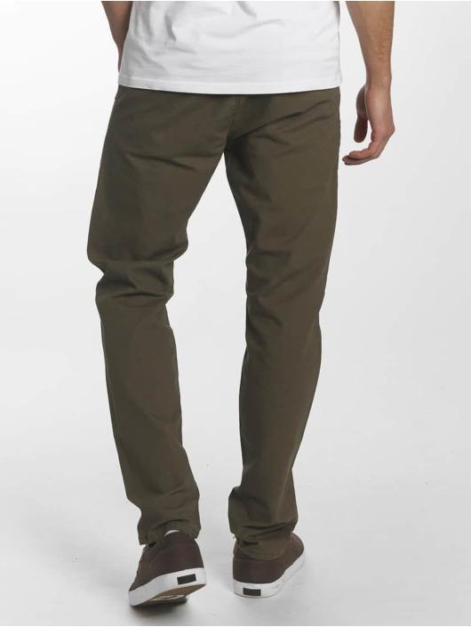 Reell Jeans Spodnie wizytowe Reflex Easy oliwkowy
