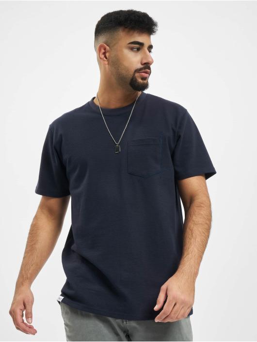 Reell Jeans T-Shirty Popcorn niebieski