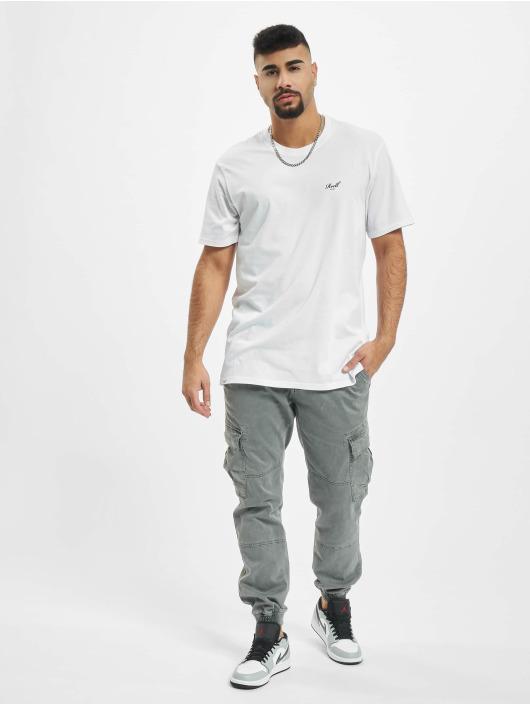 Reell Jeans Tričká Regular Logo biela