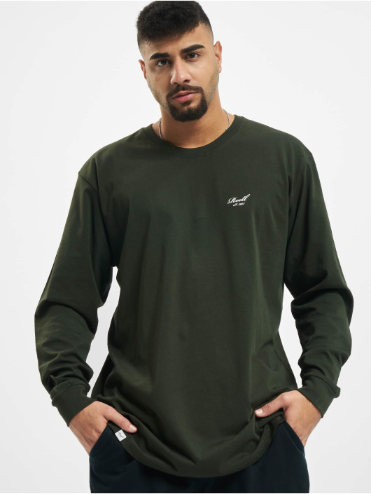 Reell Jeans Tričká dlhý rukáv Regular Logo zelená