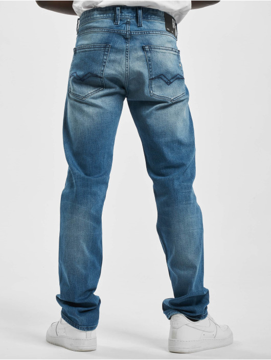 Replay Dżinsy straight fit Denim Grover niebieski