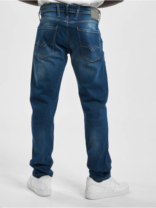 Replay Slim Fit Jeans Denim Anbass blau
