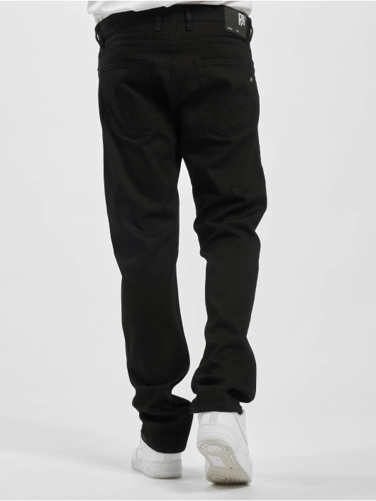 Replay Straight Fit Jeans Grover čern