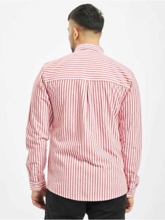 Revolution Camisa Long Sleeve Striped rojo