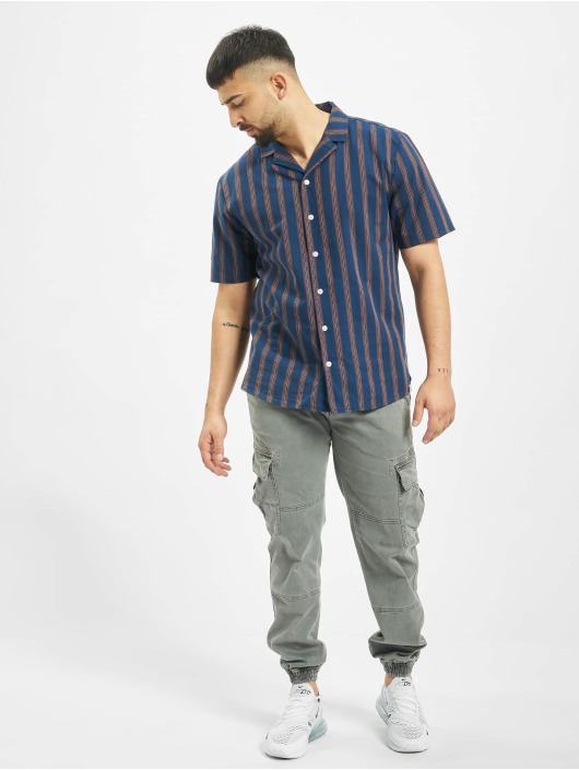 Revolution Koszule Striped niebieski